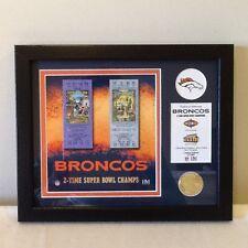 Denver BRONCOS  FRAMED SUPERBOWL COLLECTIBLE! New