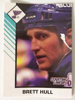 1993 Starting Lineup Brett Hull St. Louis Blues Kenner NHL Hockey Card