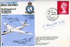 WW2 RAF intelligence officer who discovered V-1 rocket Peenemunde signed cover
