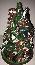 Danbury Mint Boston Terrier Christmas Tree Lighted