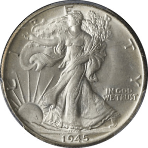 1945-P Walking Liberty Half PCGS MS65 Nice Luster Nice Strike