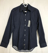 Nick Graham Mens Slim Fit Stretch Cotton Blend Dress Shirt Size 15.5 - 32/33