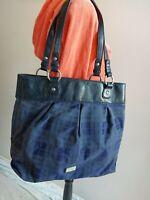 TOMMY HILFIGER womens BLUE purse handbag shoulder bag LARGE more listed in store
