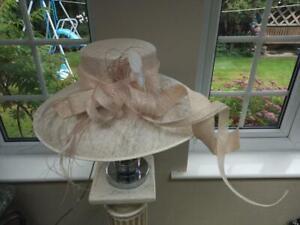 New Ladies Hatbox Ivory Wedding Hat or Ascot Races Hat