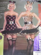 WOMANS WHEN THE CATS AWAY LEOPARD MOUSE SEXY REVERSIBLE XL COSTUME DRESS CLUB