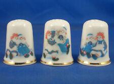Birchcroft Thimbles -- Set of Three -- Raggedy Ann