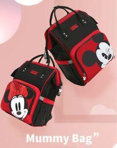Disney Minnie Mickey Diaper Bag Baternity Baby Multifunctional Stroller Nappy