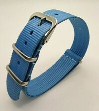 18 mm Nato Strap Correa Reloj Nylon Pulsera Watch band Blue Azul