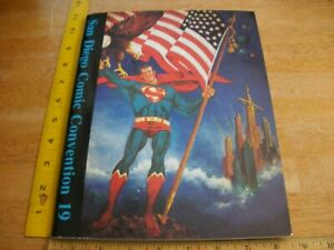San Diego Comic Con 1989 program magazine Toth Yeats Vess art