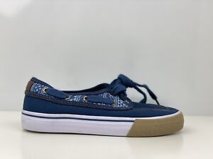 Tu Younger Boys Blue Canvas Boat Shoe Trainers UK Size 13