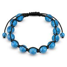 Shamballa Bracelet with Turquoise Round Beads K140