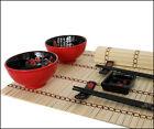 10tlg. Dinner Serivce Set Dish Cutlery Place Mat Chopsticks Porcelain
