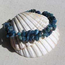 """Apatite Crystal Gemstone Chakra Bracelet """"Javan Dawn"""""""