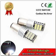 2x White 1157 45 SMD 4014 Canbus LED Bulb Brake Stop Turn Signal Light  DC12-24V