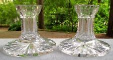 Two Large Waterford Elegant Single Light Candle Holders Candlesticks