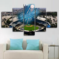 Los Angeles Dodgers Stadium 5 pcs Painting Printed Canvas Wall Art Home Decor