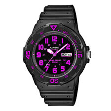 Casio MRW200H-4C 100M Black Diver Classic Sports Watch New Resin Day/Date PINK