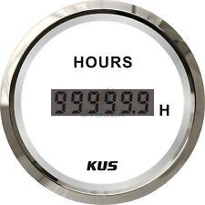 KUS Marine Hour Meter Boat Engine Digital Hour Meter Gauge 12/24V 52mm