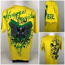 Blac Label Mens XL Shirt Yellow Embroidered Rare Sold Out!
