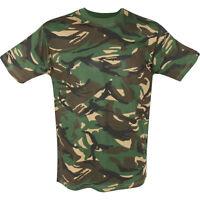Kids DPM Camouflage T-Shirt Fancy Dress Army Camo - 3-4 Years