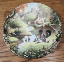 Picnic by the River Robert Hersey The Tale of a Country Village Plate Coalport