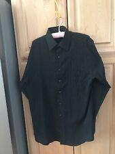 Via Europa Men's Size M 15 1/2  34-35 Button Down Shirt Striped lightweight #237