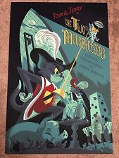 Anne Benjamin Tom & Jerry The Two Mouseketeers Hanna Barbera Print Poster Mondo