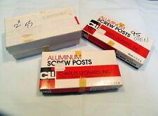 250 1 Amp 2 Aluminum Screw Posts Binding Screws Binder Posts Quality Usa New