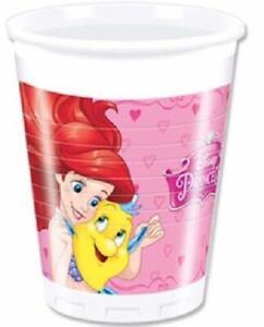 Disney Princess Plastic Cups - Pack of 8