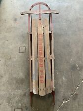 Vintage Kalamazoo Sled (Champion F-56) Metal Rail Snow Sled