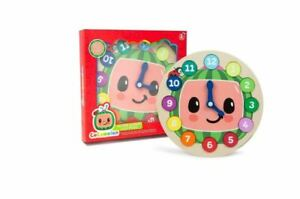Cocomelon Wooden Learning Clock Age 3+