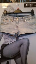Women Hot Pants DENNY ROSE  Shorts faded Sexy Low Waist Dance Party Nightclub S