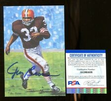Jim Brown Signed Goal Line Art Card GLAC Autographed Cleveland PSA/DNA
