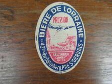 ETIQUETTE BEER BIERE DE LORRAINE BALZINGER COMBAT 04-53 BRASSERIE GUTENBERG