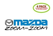 Mazda Zoom Sticker Vinyl Decal 4 Pack