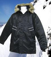 New NIKE Mens JORDAN Parka Quality Coat Parkas Black M