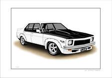HOLDEN LH L34 SLR/5000 TORANA  LIMITED EDITION CAR DRAWING PRINT (6 CAR COLOURS)