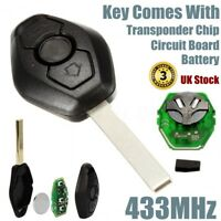 Remote Key Fob Keyless Case 433MHz TRANSPONDER CHIP For BMW E46 E39 3 5 7 Z3 M3