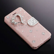 Luxury Diamond Magnetic PU Leather Flip Wallet Case Cover For Samsung/iPhone