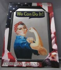 Mirror We Can Do It Rosie The Riveter pub/bar, mancave, home decoration