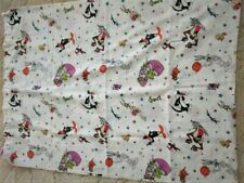 1996 Warner Bros Looney Tunes SPACE JAM Twin Bed Flat Sheet FREE SHIPPING!!