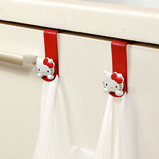 Hello Kitty Plastic Bag Hook Kitchen Rack Hanger Holder Sink Cabinet Organizer