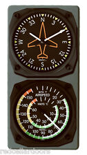 New TRINTEC DIRECTIONAL & AIRSPEED Clock & Thermometer Aviation Console set