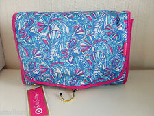 Lilly Pulitzer for TARGET my fans TRAVEL cosmetic bag VALET with 2 Available NWT