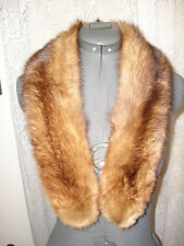 Vintage Nice Custom Styled Natural Color Brown Sable Fur Stole Collar