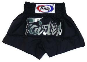 Fairtex Muay Thai Kickboxing MMA K1 Fight Shorts BS0609 Camo Black Boxing shorts