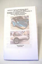 California Sidecar Set-Up Manual For 1989 to 2010 Models, Motorcycle
