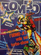 ROMBO 48 1983 con maxi poster Nini Famà campione 1983 Formula Fiat Abarth