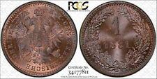1881 Austria Kreuzer PCGS MS66RB None graded equal or higher