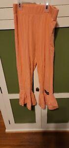 matilda jane size 12 Girls Peach Big Ruffle Pants